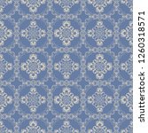 seamless floral and geometric... | Shutterstock .eps vector #1260318571