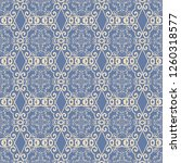 seamless floral and geometric... | Shutterstock .eps vector #1260318577
