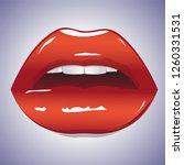 illustration of glossy lips.... | Shutterstock .eps vector #1260331531