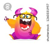 vector cute cartoon alien.... | Shutterstock .eps vector #1260331957