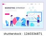 modern flat web page design... | Shutterstock .eps vector #1260336871