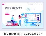 modern flat web page design... | Shutterstock .eps vector #1260336877