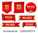 big sale banners set. ribbons... | Shutterstock .eps vector #1260339274