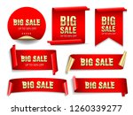 big sale banners set. ribbons... | Shutterstock .eps vector #1260339277