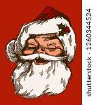 Vintage Santa Claus Face Smiling