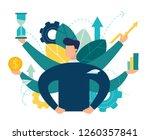 vector illustration  virtual... | Shutterstock .eps vector #1260357841