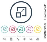 enlarge window flat color icons ...   Shutterstock .eps vector #1260360934