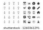 wine bottles line icons. set of ... | Shutterstock .eps vector #1260361291