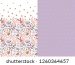 set of two horizontal seamless... | Shutterstock .eps vector #1260364657