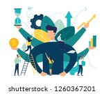 vector illustration  virtual... | Shutterstock .eps vector #1260367201