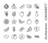 set of fruits icons... | Shutterstock .eps vector #1260368977