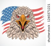 eagle usa flag | Shutterstock .eps vector #1260371221