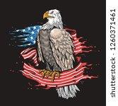 eagle american flag | Shutterstock .eps vector #1260371461