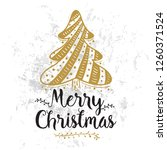 merry christmas. typography.... | Shutterstock .eps vector #1260371524