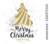 merry christmas. typography.... | Shutterstock .eps vector #1260371524