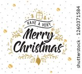 merry christmas. typography.... | Shutterstock .eps vector #1260371584