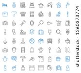 handle icons set. collection of ... | Shutterstock .eps vector #1260373774
