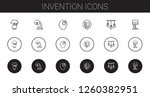 invention icons set. collection ... | Shutterstock .eps vector #1260382951