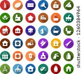 color back flat icon set  ... | Shutterstock .eps vector #1260384964