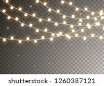christmas lights isolated on... | Shutterstock .eps vector #1260387121