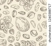 seamless pattern with nuts ... | Shutterstock .eps vector #1260388717