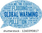 global warming word cloud on a... | Shutterstock .eps vector #1260390817