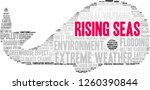 rising seas word cloud on a... | Shutterstock .eps vector #1260390844