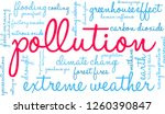 pollution word cloud on a white ... | Shutterstock .eps vector #1260390847