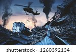 helicopter and forces in... | Shutterstock . vector #1260392134
