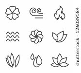 abstract contour nature icons... | Shutterstock .eps vector #126039584
