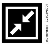 pointing inward arrows icon | Shutterstock .eps vector #1260398704