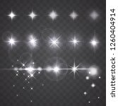 vector lights  stars or... | Shutterstock .eps vector #1260404914