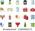 color flat icon set hook flat...   Shutterstock .eps vector #1260406171
