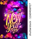 new year party vector poster... | Shutterstock .eps vector #1260406927