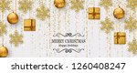merry christmas background with ... | Shutterstock .eps vector #1260408247