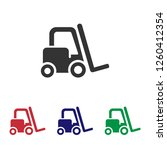 forklift icon.cargo... | Shutterstock .eps vector #1260412354