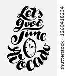 vector avocado calligraphy...   Shutterstock .eps vector #1260418234