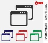 browser icon vector.web page...
