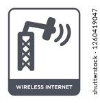 wireless internet icon vector...   Shutterstock .eps vector #1260419047