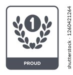 proud icon vector on white... | Shutterstock .eps vector #1260421264