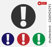 warning icon. attention... | Shutterstock .eps vector #1260424291
