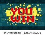 red pixel retro win navigation... | Shutterstock .eps vector #1260426271