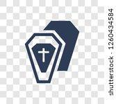 wooden coffin icon. trendy... | Shutterstock .eps vector #1260434584