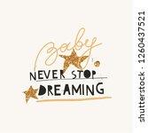 cute childish creative print.... | Shutterstock .eps vector #1260437521