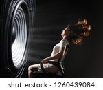 the sound wave set back an... | Shutterstock . vector #1260439084