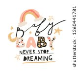cute nursery childish creative...   Shutterstock .eps vector #1260441781