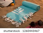 handwoven hammam turkish cotton ... | Shutterstock . vector #1260443467