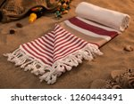 handwoven hammam turkish cotton ... | Shutterstock . vector #1260443491