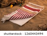 handwoven hammam turkish cotton ... | Shutterstock . vector #1260443494