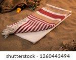 handwoven hammam turkish cotton ...   Shutterstock . vector #1260443494